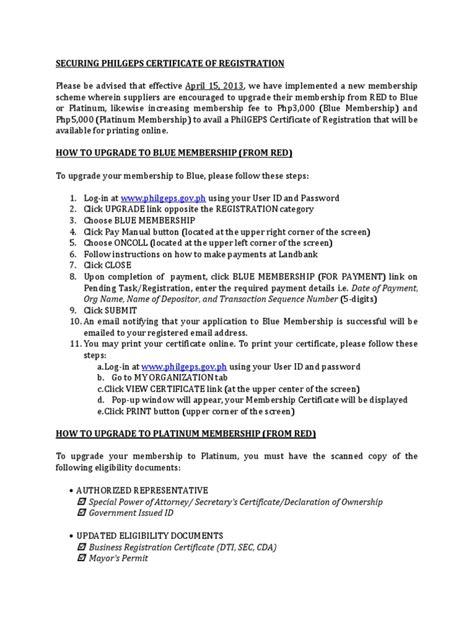 secure philgeps certificate  registration