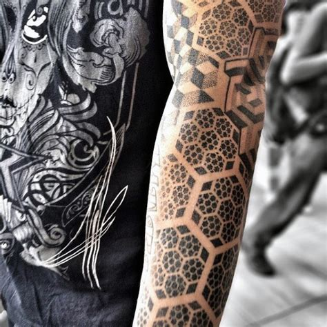 80 Honeycomb Tattoo Designs For Men  Hexagon Ink Ideas