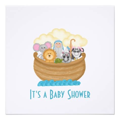 noahs ark baby shower noah 39 s ark baby shower invitation 5 25 quot square invitation