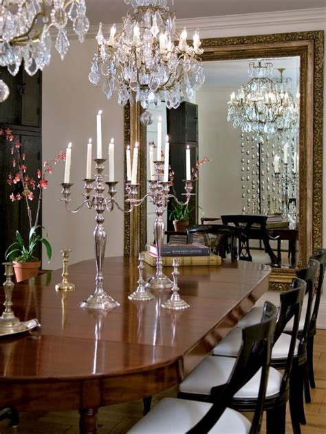 traditional dining room  twin chandeliers hgtv