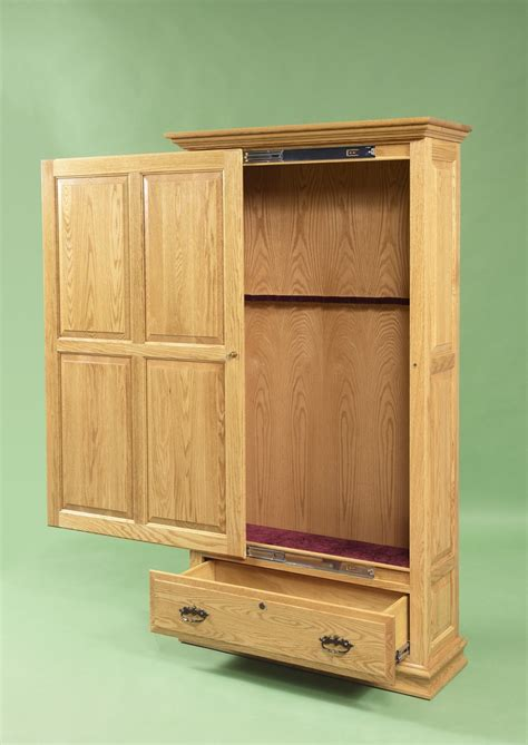 woodworking plans gun cabinet   build  easy diy