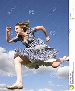 Woman Running In Dress Royalty Free Stock Images - Image ...