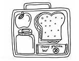 Coloring Colouring Pages Box Lunchbox Healthy Lunch Printables Sheets Template sketch template