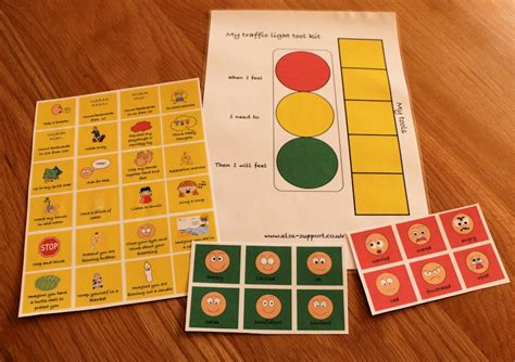 traffic light toolkit  emotional regulation elsa support