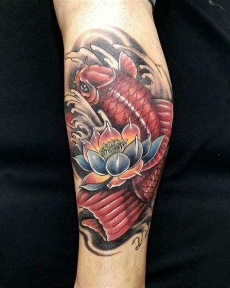koi fish tattoo designs  men improb