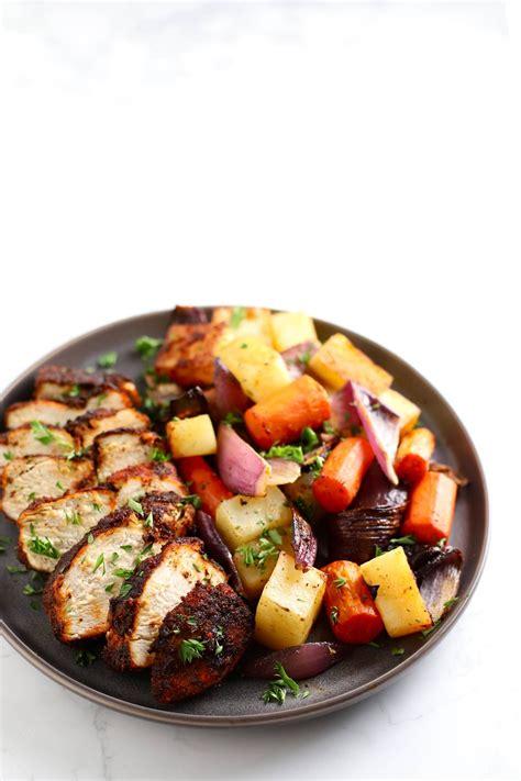 recipes chicken fryer air recipe vegetables spiced healthy dinner