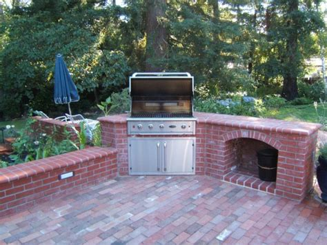 outdoor brick kitchen designs how to build outdoor kitchen with fireplace 3818