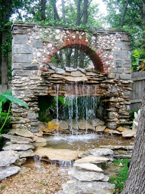 building a waterfall wall 49 amazing outdoor water walls for your backyard digsdigs
