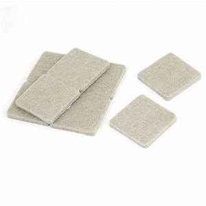 He527 8 pcs home table chair leg protection square felt for Furniture leg pads lowes