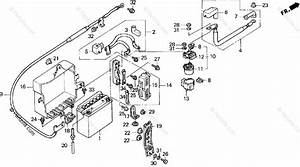Honda Motorcycle 1994 Oem Parts Diagram For Battery