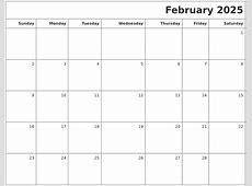 February 2025 Printable Blank Calendar