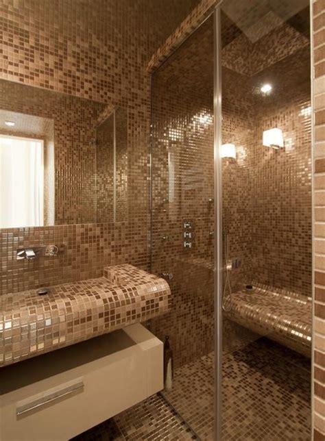 mosaique beige salle de bain salle de bain en mosa 239 que nacr 233 e beige marron d 233 coration salle de bains bathroom