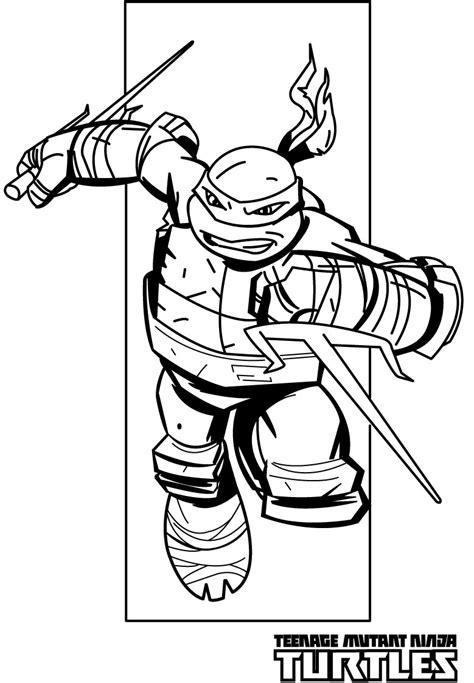 ralph ninja turtle coloring page  large images
