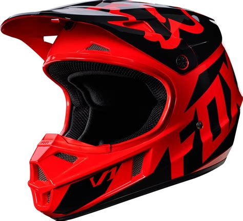 fox motocross fox racing youth v1 race mx motocross helmet ebay