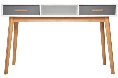 bureau oaky blanc et gris bureau pas cher
