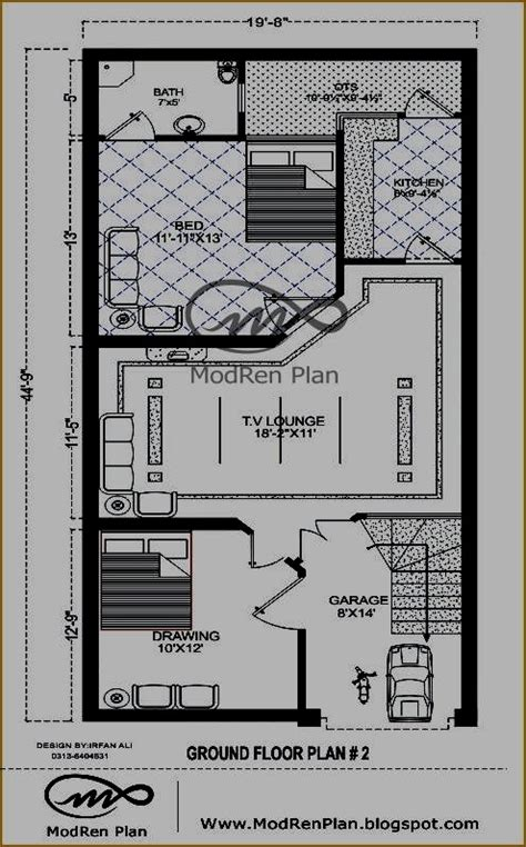 marla modern house plan small house plan ideas