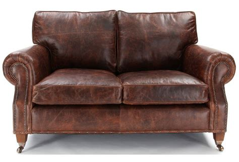small 2 seater leather sofa hepburn shabby chic vintage leather small 2 seater sofa livingroom3 sofas armchairs