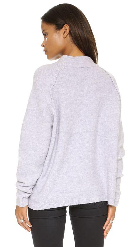 lilac sweater free crew sweater in purple lyst