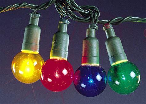 40 mini globe christmas lights coloured