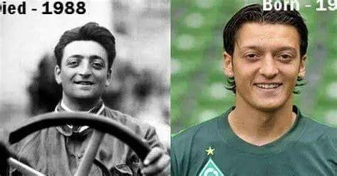 The question now is mesut ozil a reincarnation of enzo anselmo ferrari? Mesut Ozil and Enzo Ferrari a scary reincarnation! | Naija Blog Queen Olofofo