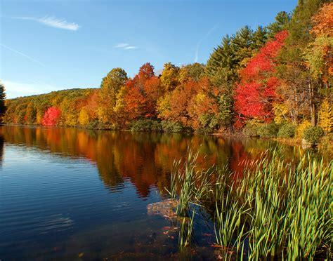 Fondos de pantalla : Árboles paisaje otoño lago agua