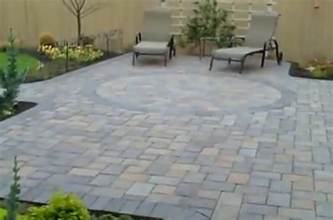 this paver patio was a overlay a existing concrete