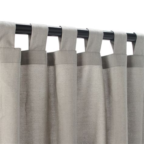 sunbrella spectrum dove outdoor curtain with tabs 50 in x
