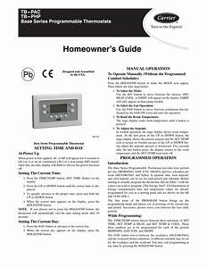 Homeowner U2019s Guide  Setting Time And Day  Manual Operation