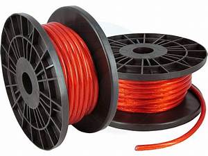 50ft 8ga 8awg Cca Red Power Cable Wire Heat Resistance Car