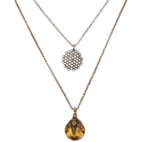 Lucky Brand Twotone Bee And Honeycomb Tworow Pendant. Mini Gold Chains. Gold South African Chains. Gols Chains. Bike Chain Chains. Ear Chains. Gemstone Chains. Weist Chains. Jewelry Sets Chains
