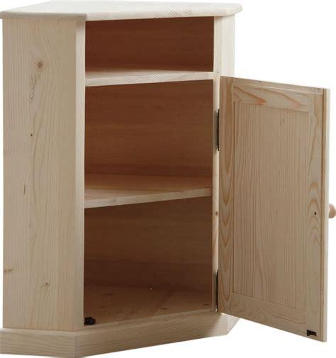 meuble d 39 angle en bois brut