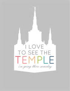 Primary LDS Temple Printables