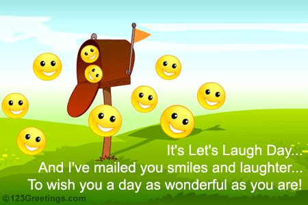 smiles laughter lets laugh day ecards greeting cards