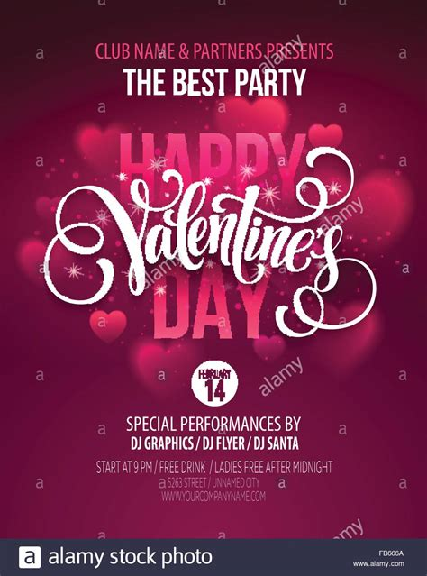 valentines day party poster design template  invitation