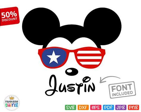 Minnie mouse svg minnie sunglasses svg disney svg mickey mouse mickey sunglasses svg cricut. 10 best Disney Independence Day SVG Cut Files images on ...