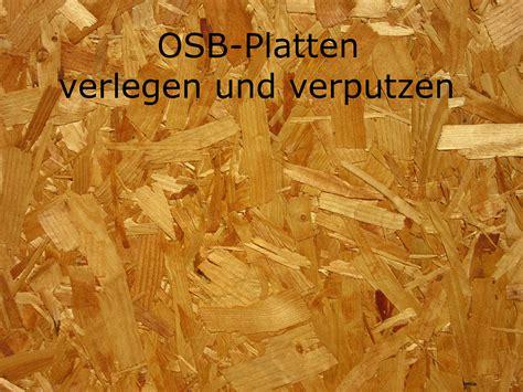 Fliesen Verputzen Und Streichen by Osb Platten Verlegen Und Verputzen