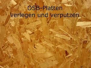 Osb Platten Spachteln Und Tapezieren : osb platten verlegen und verputzen ~ Watch28wear.com Haus und Dekorationen