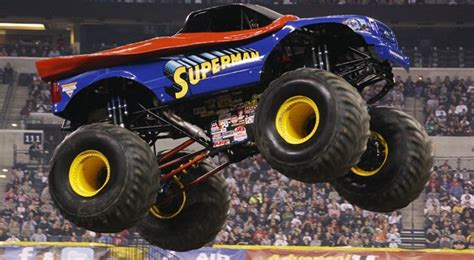 superman monster truck videos superman monster truck man of steel mos pinterest