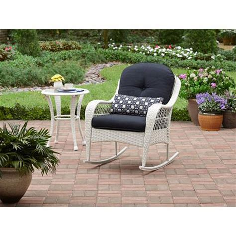Patio Furniture Chairs by Outdoor Rocking Chair Wicker White Porch Rocker With