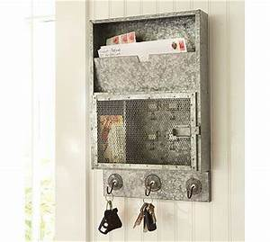 galvanized metal key cabinet pottery barn With kitchen cabinets lowes with galvanized wall art