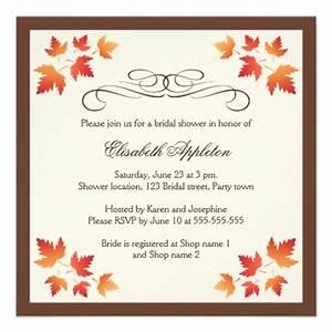 autumn wedding shower invitations autumn weddings pics With fall wedding shower invitations