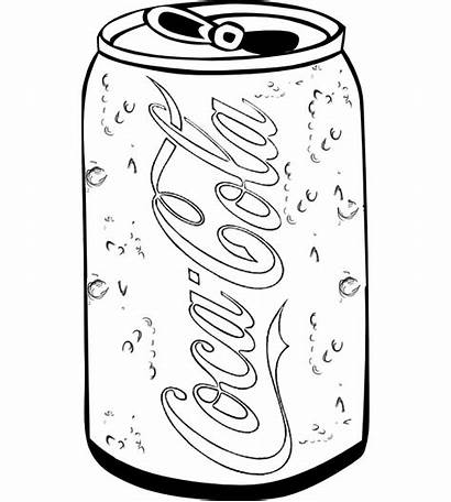 Cola Coca Coloring Soft Drink Drawing Pages
