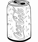 Cola Coca Coloring Soft Drink Drawing Pages Adults Popular Most sketch template