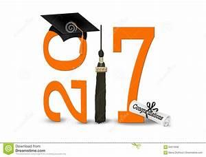 Orange And Black 2017 Graduation Stock Photo - Image: 84973938
