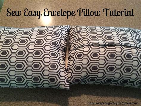 sew easy envelope pillow cover easy peasy pleasy