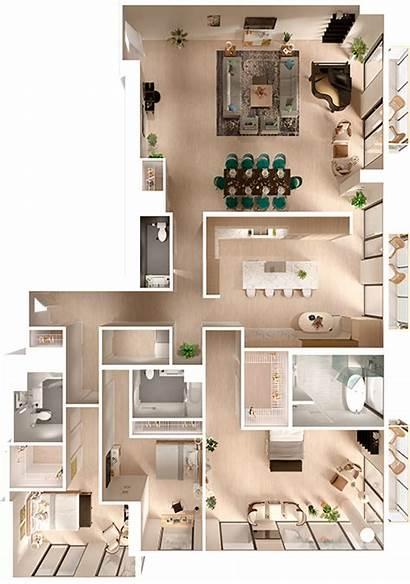 Plans Floor Sims Plan Layout Apartment Penthouse