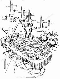Honda Motorcycle Models With No Year Oem Parts Diagram For Cylinder Head   Insulator