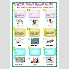 Quiz What Sport Is It? Worksheet  Free Esl Printable Worksheets Made By Teachers