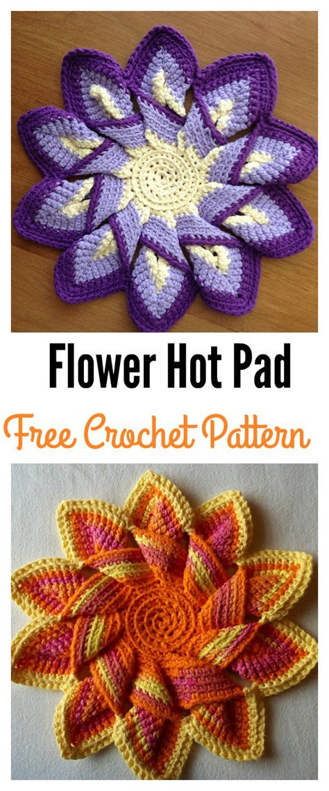 colorful crochet flower pot holder   pattern