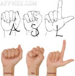 American Sign Language Hand Symbols